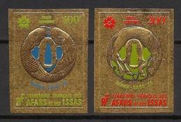 Afars Et Issas - 1970 - PA N°Yv. 64 à 65 - Osaka - GOLD - Non Dentelé / Imperf. - Neuf Luxe ** / MNH / Postfrisch - Neufs
