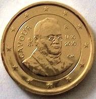 ITALIE 2010 - 2 EUROS COMMEMORATIVE - CONTE DE CAVOUR - PLAQUE OR - Italie