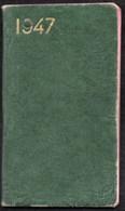 Calendriers > Petit Format : 1941-60 Petit Agenda Semainier 1947 - Calendriers