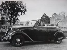 Rare! Photo Ancienne Peugeot 202 Coupé Décapotable Voiture Ancienne Automobile Ancienne !!! - Cars