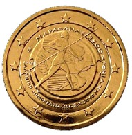 GRECE 2010 - 2 EUROS COMMEMORATIVE - MARATHON - PLAQUE OR - Grèce