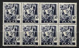 SARRE   -   1947 .  Y&T  N° 210 **  En  BLOC De 8 . - Saargebiet