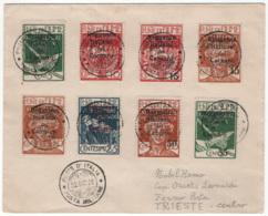 Fiume 1920 Sass.131/36,138/39,140/42su Busta Usati/Used VF/F - 8. WW I Occupation