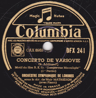 78 Trs - 30 Cm - état TB -  CONCERTO DE VARSOVIE 1re Et 2e Parties -  ORCHESTRE SYMPHONIQUE DE LONDRES - 78 T - Disques Pour Gramophone