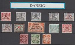 Allemagne Danzig : Lot De Timbres Anciens Neufs Sans Gomme.. - Dantzig