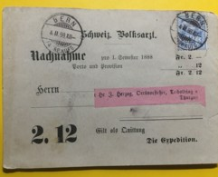 8028 - Nachnahme Remboursement Schweiz.Volksarzt. Bern 4.2.1888 - 1882-1906 Armarios, Helvetia De Pie & UPU
