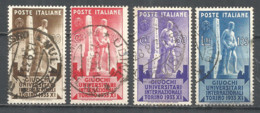 Italy 1933 Year, Used Stamps , Michel # 448-51 - Oblitérés