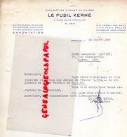 78- VERSAILLES- LETTRE LE FUSIL KERNE-MANUFACTURE ARMES CHASSE-4 PLACE HOCHE-HAMMERLESS-PLATINE MAGNUM-1958 - Petits Métiers