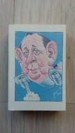 Zündholzschachtel Mit Einer Karikatur Eines Politikers (Genscher) - Werbung Für Eine Deutsche Zeitschrift (Quick) - Matchboxes