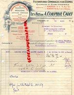 81- CASTRES- BORDEAUX-ROMANS-FACTURE A. COLOMBIE CADET- MANUFACTURE COURROIES-MACHINES VAPEUR-MINOTERIE-1959 - Petits Métiers