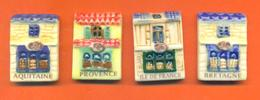Serie Incomplète De 4/8feves Regions 1 ( Grandes ) 2004 - Regions