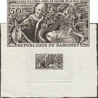 Dahomey 1966 Y&T PA 43. Épreuve D'artiste. Sa Sainteté Le Pape Paul VI à L'ONU. Appel En Faveur De La Paix. - Popes