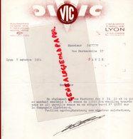 69- LYON- RARE LETTRE VIC -MONOGRAMME - BIJOUTIER-MONOGRAMMES OR- ARGENT METAL-BIJOUTERIE FANTAISIE-1954 - Petits Métiers