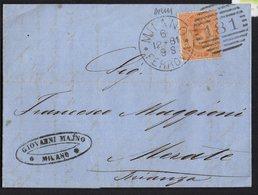 ITALY KINGDOM ITALIA REGNO 1891. FERROVIA MILANO MERATE LETTERA COVER - Italia
