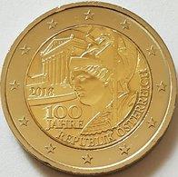 2 Euro UNC WCC:km3275 2018 (100 Years Republic Of Austria) - Oesterreich