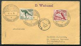 1936 Germany DR Deutsche Seepost Hamburg Afrika WATUSSI Ship Schiffspost Cover + Letter. Antwerpen. Winter Olympics - Germany