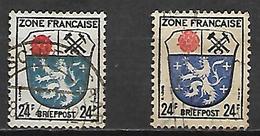 ALLEMAGNE    -   1945 .  Y&T  N° 9 Oblitérés.  Nuances - Zone Française