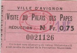 Avignon : Ticket D'entrée Pour La Visite Du Palais Des Papes - Tickets D'entrée