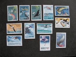 Territoire Antarctique Australien: TB Série N° 23 Au N° 34, Neufs XX. - Australian Antarctic Territory (AAT)