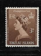 TOKELAU 1953 COURANTS-ELIZABETH  YVERT N°4  NEUF MLH* - Tokelau