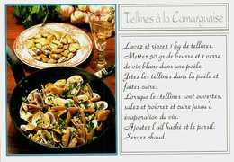 Carte Postale  Recette  -  TELLINES à La Camarguaise - Recipes (cooking)