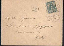 ITALY KINGDOM ITALIA REGNO 1904. FERROVIA NAPOLI CITTA LETTERA COVER - Italia