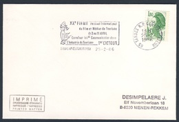 France Rep. Française 1986 Cover / Brief / Envelope - XXe FIFMT - Festival Int. Film Et Médias Du Tourisme , Tarbes - Film
