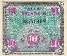 Billet 10 F Verso Drapeau 1944 FAY VF18.1 N° 38779498 NEUF - 1944 Drapeau/France