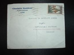 LETTRE TP 25F OBL.MEC.19-3 1954 ALGER GARE + Charlotte KADDOUR - Covers & Documents