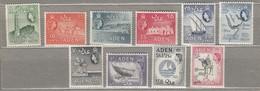ADEN 1964 MNH (**) Mi 78-87, SG 77-86 #23229 - Aden (1854-1963)