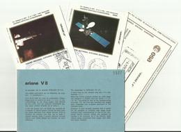 Lancement Fusée ARIANE L8 - 05/03/1984 - Pochette Lancement CNES - 4 Documents - CENTRE SPATIAL GUYANAIS - ESPACE - Europa