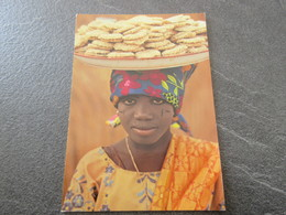 CP - Hausa Girl Selling Cakes - Nothern Nigeria - Nigeria