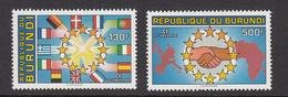 1993 Burundi EU European Common Market Flags Map Complete Set Of 2   MNH - Burundi