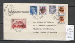 Reunion - Lettre Avion De SAINT DENIS Pour WASHINGTON - Etats Unis -1952 - Reunion Island (1852-1975)