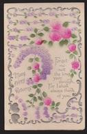 General Greetings - Flowers & Verse - Used 1920 - Transfer Flowers - Greetings From...