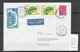 Reunion - Lettre  De SAINT DENIS Pour CARLSBERG - Allemagne - 1974 - Reunion Island (1852-1975)