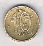 10 KRONOR 1992 ZWEDEN /7848/ - Suède