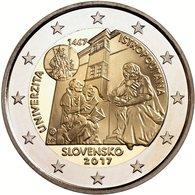 2 Euro UNC SLOVAKIA 2 Euro (Universitas Istropolitana – 550 Years) - Slowakei
