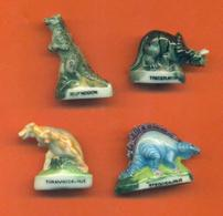 Serie Incomplète De 4/8 Feves Les Dinorois 1994 - Dinosaures - Animals