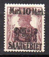 Col10    Sarre  N° 52  Neuf X MH  Cote : 16,00 Euro Cote 2015 - Unused Stamps