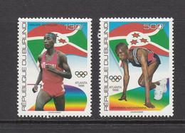 1996 Burundi Atlanta Olympics Athletics  Complete Set Of 2  MNH - Burundi