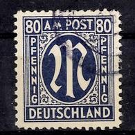 Allemagne/Bizone Michel N° 34 Oblitéré. Oblitération Authentique Signé Schlegel. B/TB. A Saisir! - Zone Anglo-Américaine
