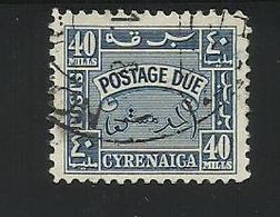 CIRENAIQUE - CYRENAICA - TIMBRE TAXE - POSTAGE DUE - 1950 - 40 Mills - Stamps