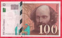 """100 Francs """"Cézanne"""" 1997 ---VF/SUP ---n °P029126279 - 1992-2000 Dernière Gamme"""