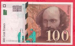 """100 Francs """"Cézanne"""" 1998 ---VF/SUP ---n °Y055042573 - 1992-2000 Dernière Gamme"""