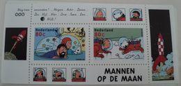 Postzegelblokje Kuifje Nederland- Mannen Op De Maan - Kuifje