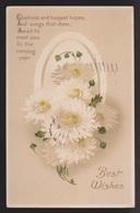 General Greetings - Best Wishes Flowers & Verse - Used - Embossed - Greetings From...