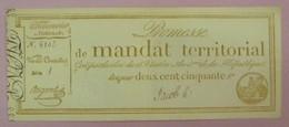 Promesse De Mandat Territorial - Bon Pour 250 Francs, Impression Bistre, Lafaurie N°202 - Très Beau - Assignats & Mandats Territoriaux