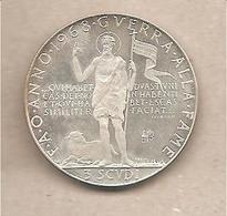 SMOM - Moneta FDS Da 3 Scudi: Guerra Alla Fame - 1968 PROVA - Malte (Ordre De)
