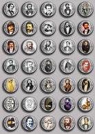 Johann Strauss Opera Music Fan ART BADGE BUTTON PIN SET 1 (1inch/25mm Diameter) 35 DIFF - Music
